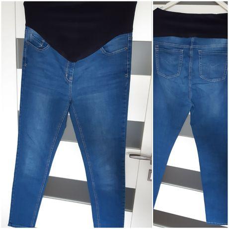 Jeansy cążowe rurki skinny Next Maternity r.40 L GRATIS koszula nocna
