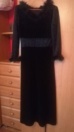 Sukienka/suknia Sylwester, wieczorowa czarna, rozmiar S/M