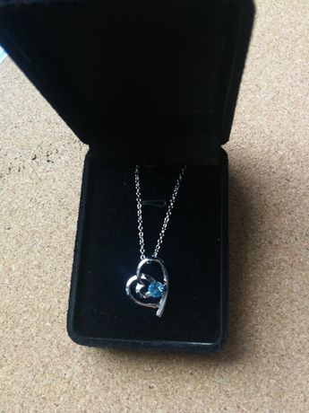 Biżuteria naszyjnik z sercem nowa Walentynki