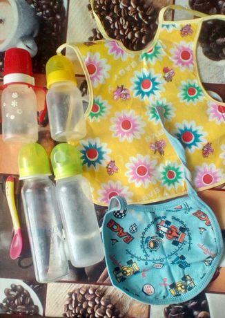 Бутылочка для кормленияBABY-NOVA, Canpol babies, ложечка, слюнявчик