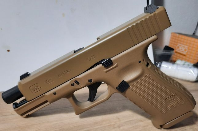 Pistola GLOCK G19X Coyote-Co2-4,5mm BlowBack