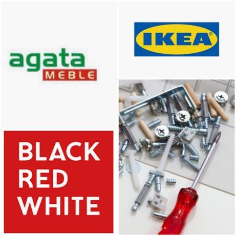 Montaż skęcanie mebli. BRW, Bodzio, Agata Meble, IKEA, allegro.