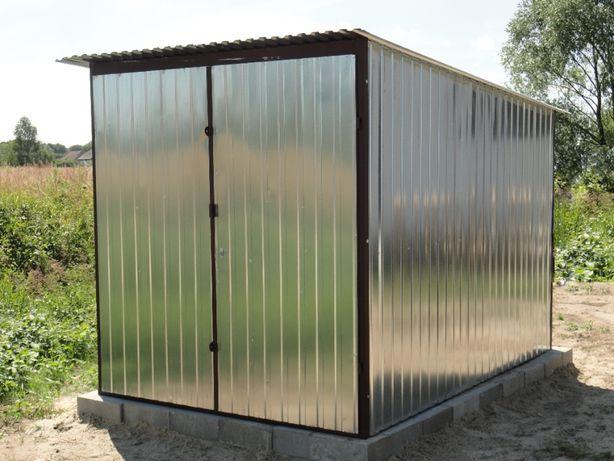 Garaż blaszany 2x3 blaszaki garaże hale wiaty Dostawa Montaż
