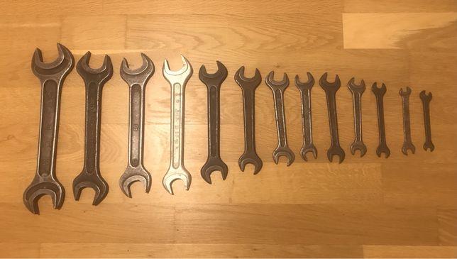 Набор рожковых накладных гаечных ключей СССР 7-36, ключ
