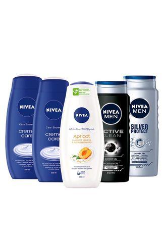 NIVEA Żele pod prysznic damsko – męskie 5x 500ml