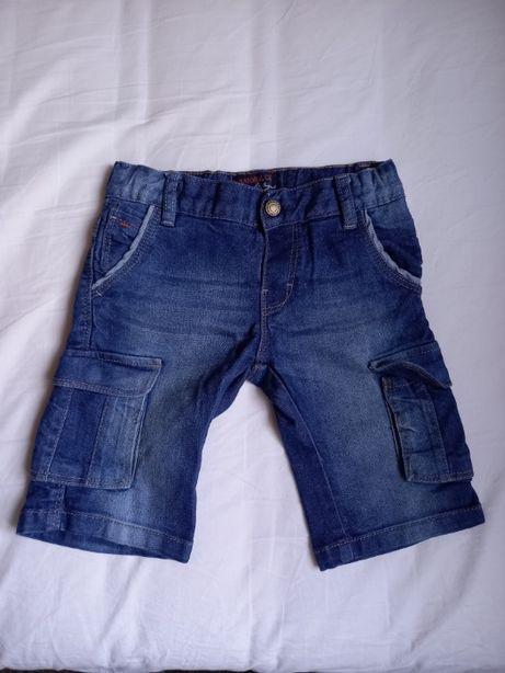 Jeansy krótkie chłopięce