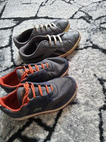 2 pary butów Lacoste 34.5 Reebok 35