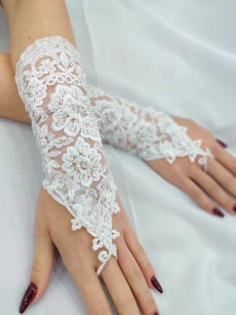 Весільні перчатки, свадебные перчатки (митенки)