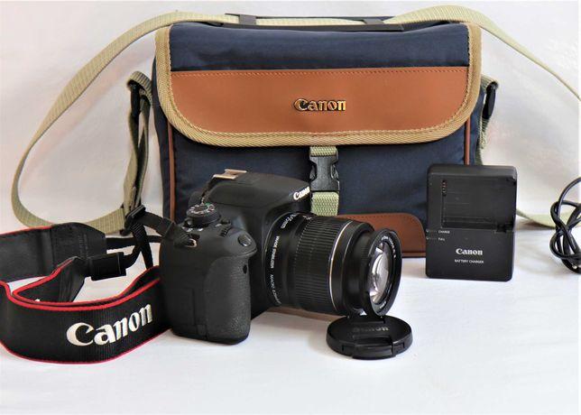 Canon 700D com lente Canon 18-55mm máquina fotográfica digital reflex