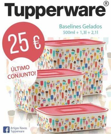 3 Caixas Gelados Tupperware