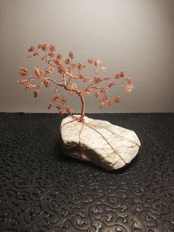 Drzewko bonsai szczęścia z miedzi