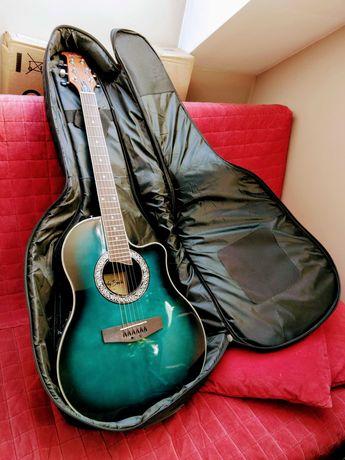 Harley Benton HBO-600TB gitara elektro-akustyczna + pokrowiec