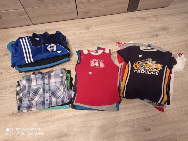 Zestaw ubrań,ciuszków dla chłopca,chłopięcych 128, 134, 140, wiek 8-10