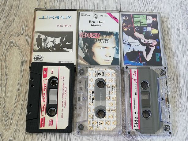 Kasety Red Box i Simple Minds. New romantic, synthpop, rock lata 80