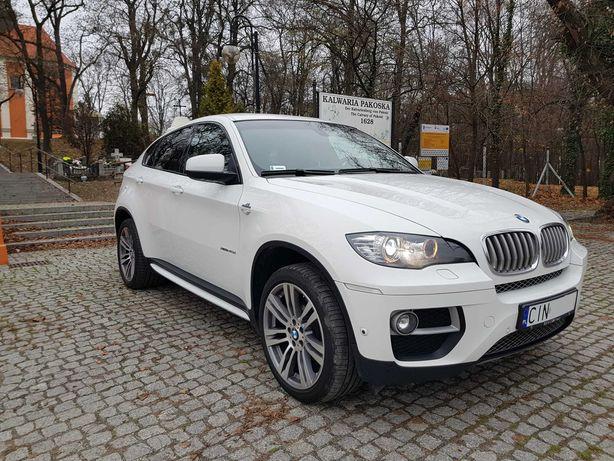 Białe BMW X6 do ślubu