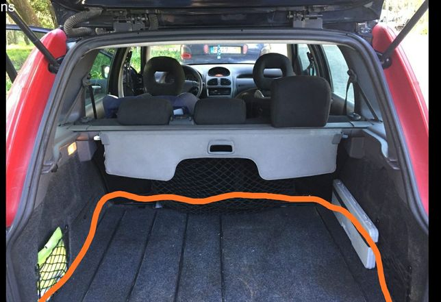 Tapete de bagageira Peugeot 206 SW (carrinha)