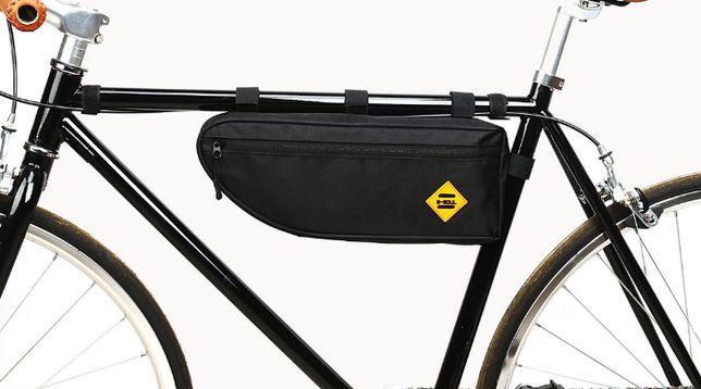Вело сумка B-SOUL треугольник под раму 40*13.5*5.5см угловая велосумка