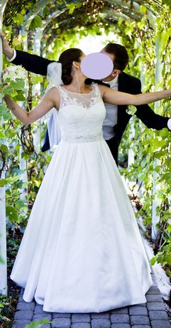 suknia slubna Labette Herms Bridal mikado tren + gratisy