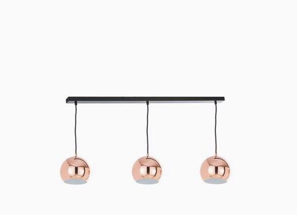 Lampa wiszaca różowe złoto Frandsen Ball miedz