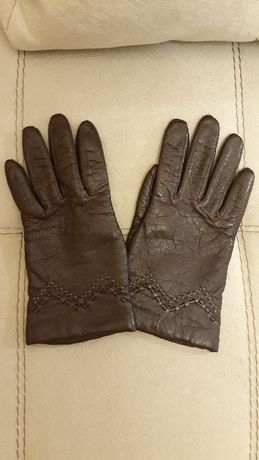 Перчатки новые кожаные
