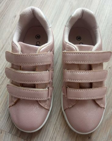 Buty na rzepy dla dziewczynki różowe, r. 30