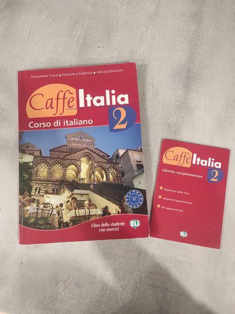 """Podręcznik do włoskiego """"Caffe Italia 2"""" B1, stan idealny"""