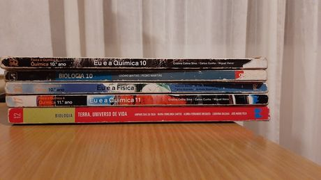 Livros escolares de 10°, 11° e 12° ciências desde 15€
