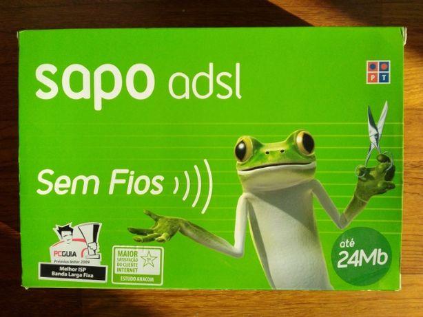 Modem ADSL sem fios banda larga fixa. Envio por correio
