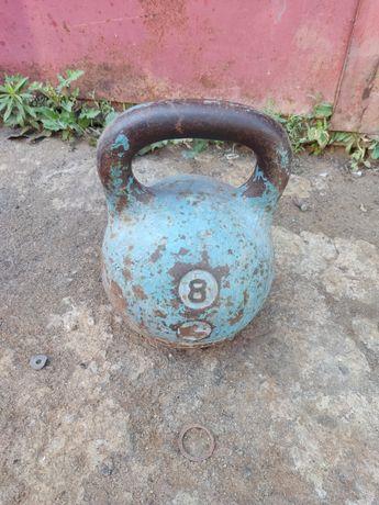 Гиря атлетическая 8 кг  СССР советская КЛЗ