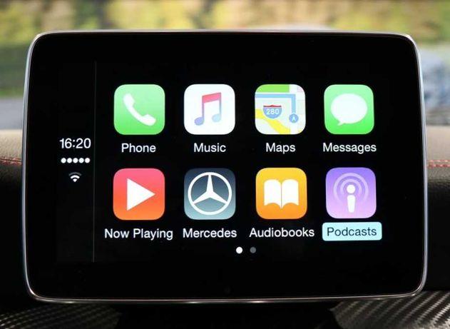 Mercedes CarPlay AndroidAuto W205 CLA GLA GLC GLE CLS Klasa A B C E