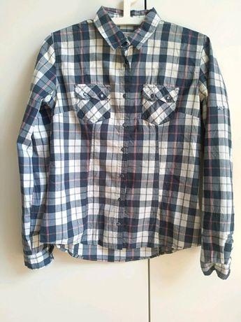 Bawełniana koszula w kratę Diverse (rozmiar S)