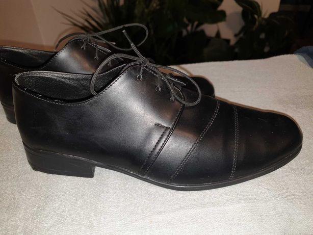 Buty czarne 36 galowe wizytowe eleganckie- na komunię rozpoczęcie roku