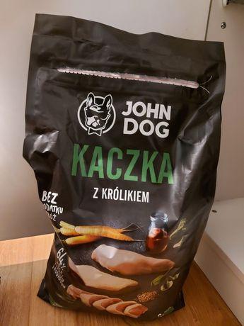 Karma dla psa John Dog kaczka z królikiem