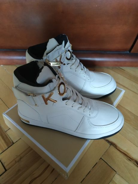 Ботинки, кеды белые демисезонные.высокие Michael Kors 35-36 р.