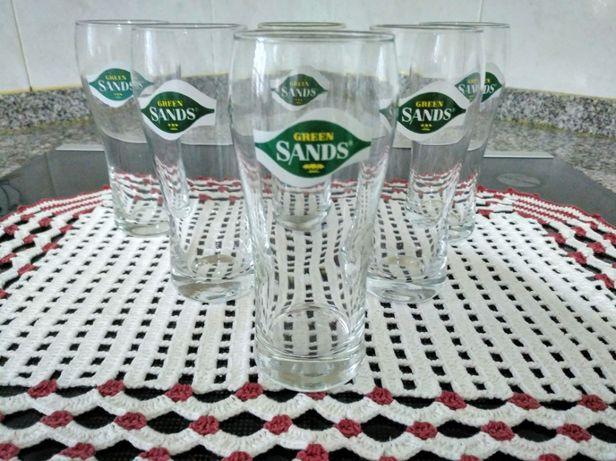 6 copos Green Sands