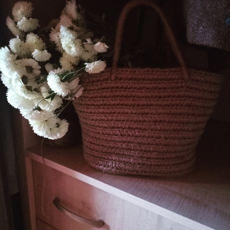 Джутова корзина, сумка