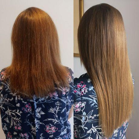 Наращивание волос и стрижка