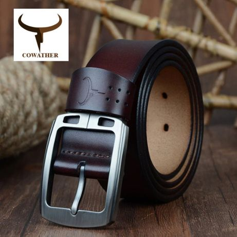 Мужской Кожаный Ремень COWATHER XF001 из натуральной кожи