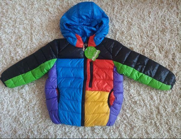 Демисезонная теплая яркая куртка