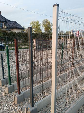 Panele ogrodzeniowe fi 4 1,3 z podmurówką+Montaż. Ogrodzenia Włocławek