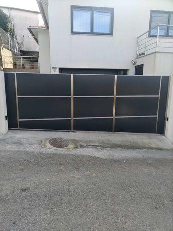 portões em aço inox/guarda-corpos em aço inox/gradeamentos em aço inox