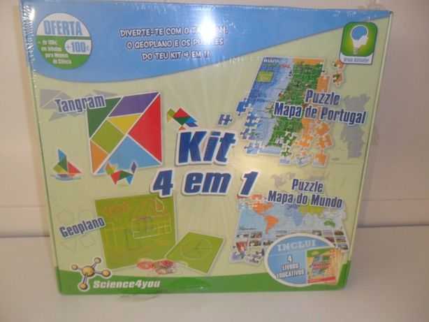 Kit 4 em 1 novo da Science4you