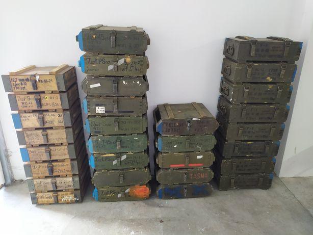 Skrzynie wojskowe drewniane