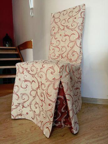 sukienka pokrowiec na krzesło 8 szt