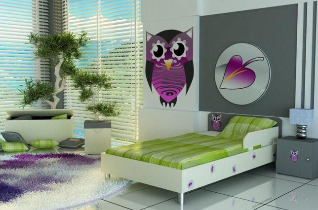 Łóżko dziecięce z materacem i barierką, 3 wymiary i różne kolory