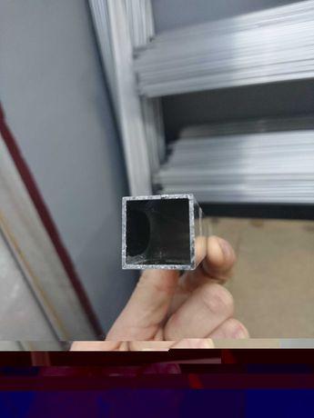 Алюминиевая труба квадратная 20*20*1 мм, алюминиевый профиль