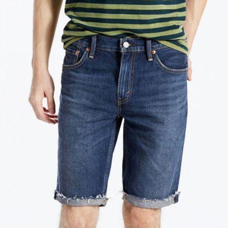 Трендовые джинсовые шорты xs/s темно синего цвета levi's 501 оригинал