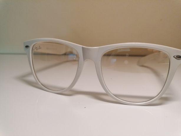 Okulary zerówki dymione rayban białe wayfarer