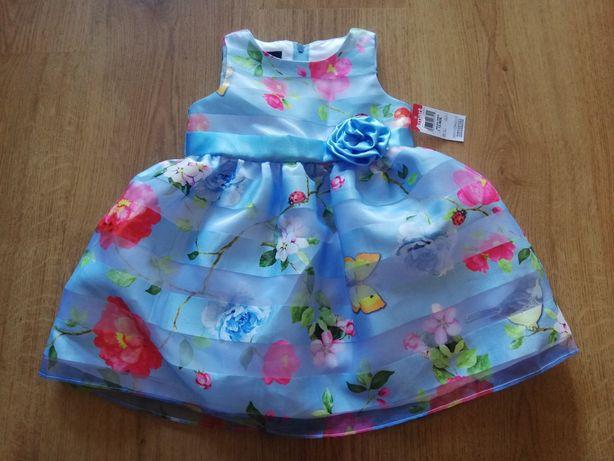 Nowa sukienka kwiaty 80