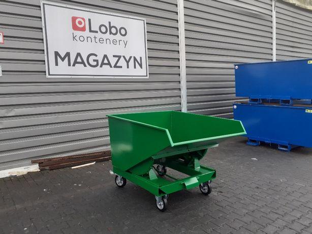 Pojemnik metalowy do wózka widłowego kontener wywrotka 900L premium